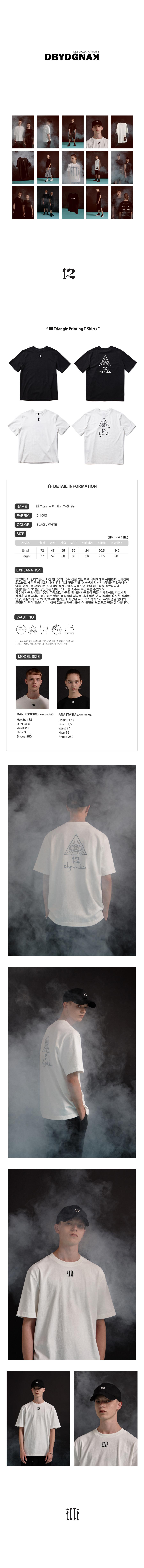 디그낙12(DGNAK12) illi Triangle Printing T-Shirts (BK)