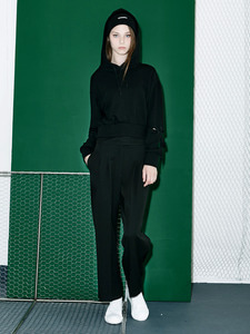 [Season Off 50% 세일]Side Zipper Wide Pants (BK)