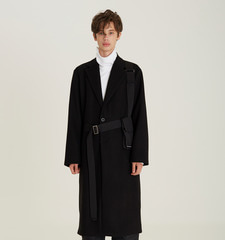 [오픈기념 10%세일]Belt Pocket Single Coat (BK)