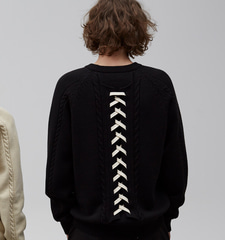 [2/27일 예약배송][19S/S] Pretzel Back Lace-up Knit (BK)