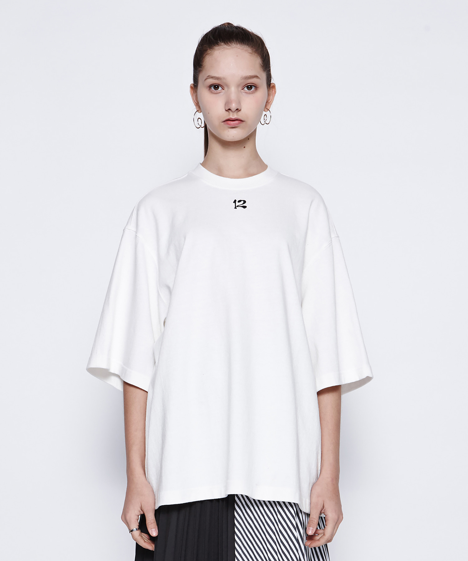 [19SS][50% 세일] 12 Embroidery T-Shirts (WH)
