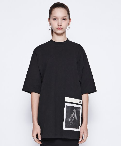 [DGNAK12][30% 세일] Pray Basic T-Shirts (BK)