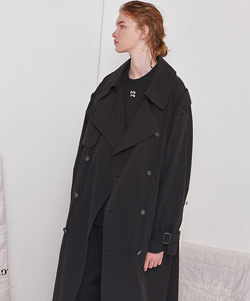 [19FW][40% 세일] Oversize Trench Coat (BK)
