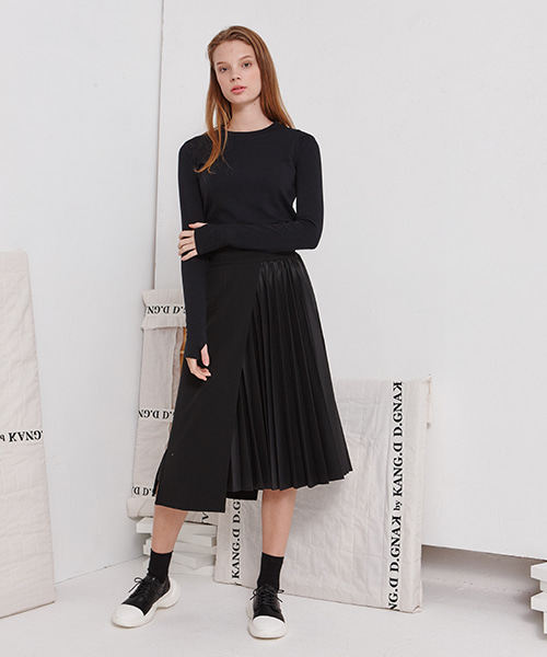 [19FW][30% 세일] Pleats Slim Skirt