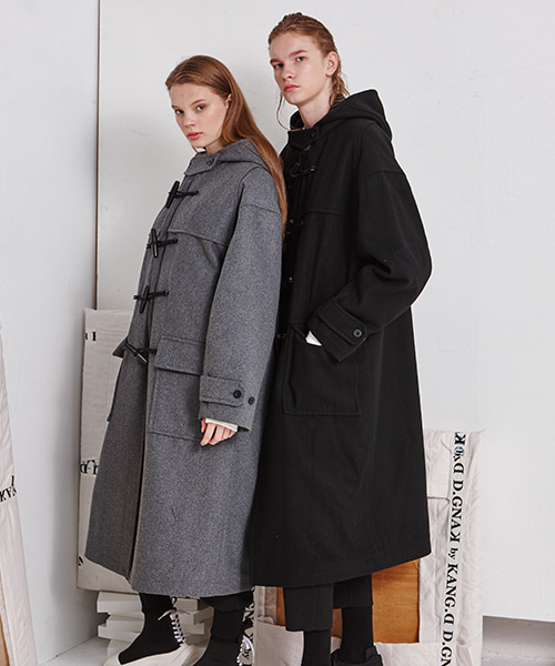 [19FW][40% 세일] Drop Shoulder Duffle Coat (BK)