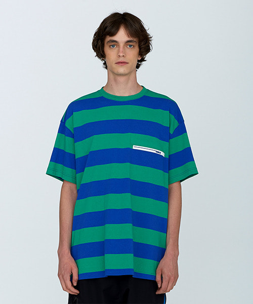 [18SS][50% 세일] Rubber Wappen Stripe T-Shirts(BL)