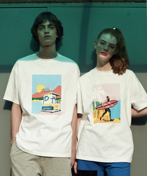 [18SS][60% 세일] Sunset Beach T-Shirts(WH)