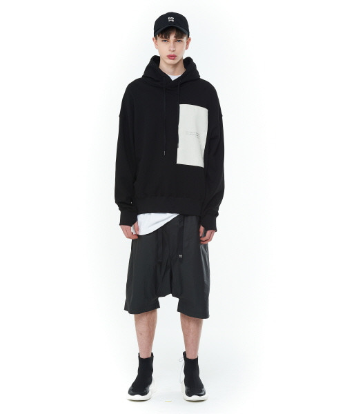 [20SS][15% SALE] Layered Patch Hood T-Shirts (BK)_ PA1TS0909